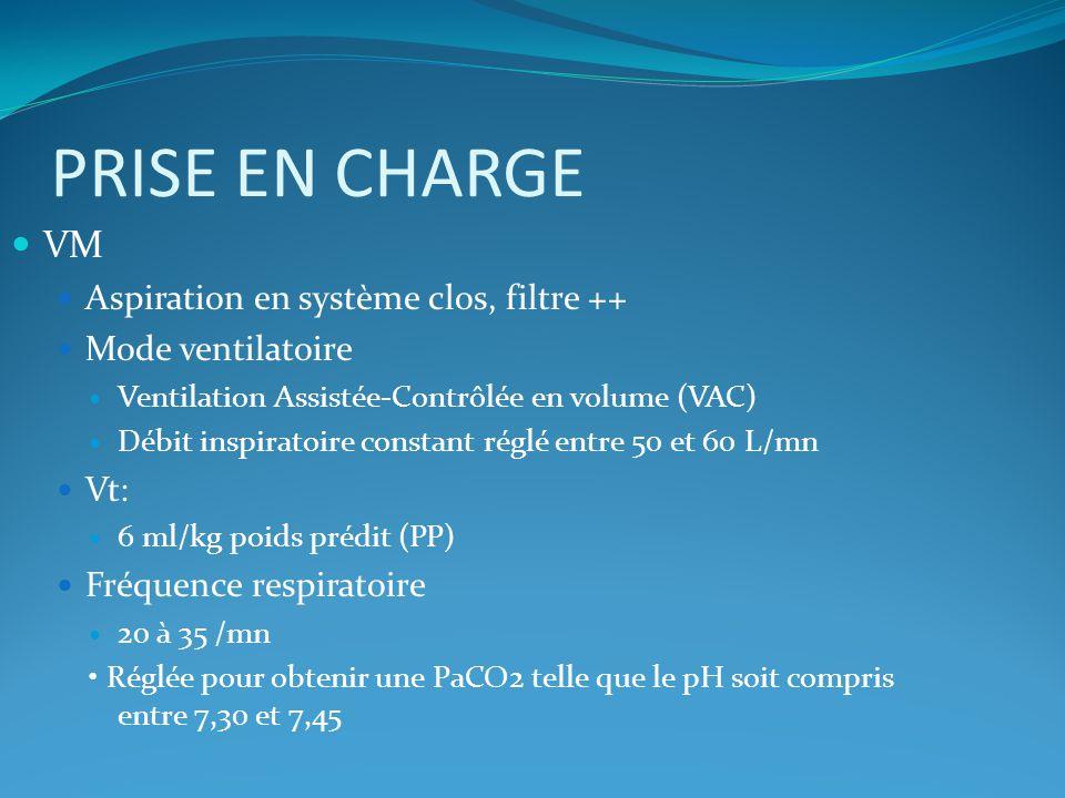 PRISE EN CHARGE VM Aspiration en système clos, filtre ++