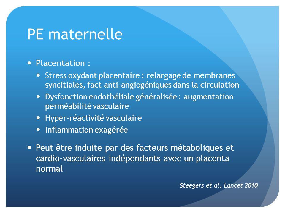 PE maternelle Placentation :