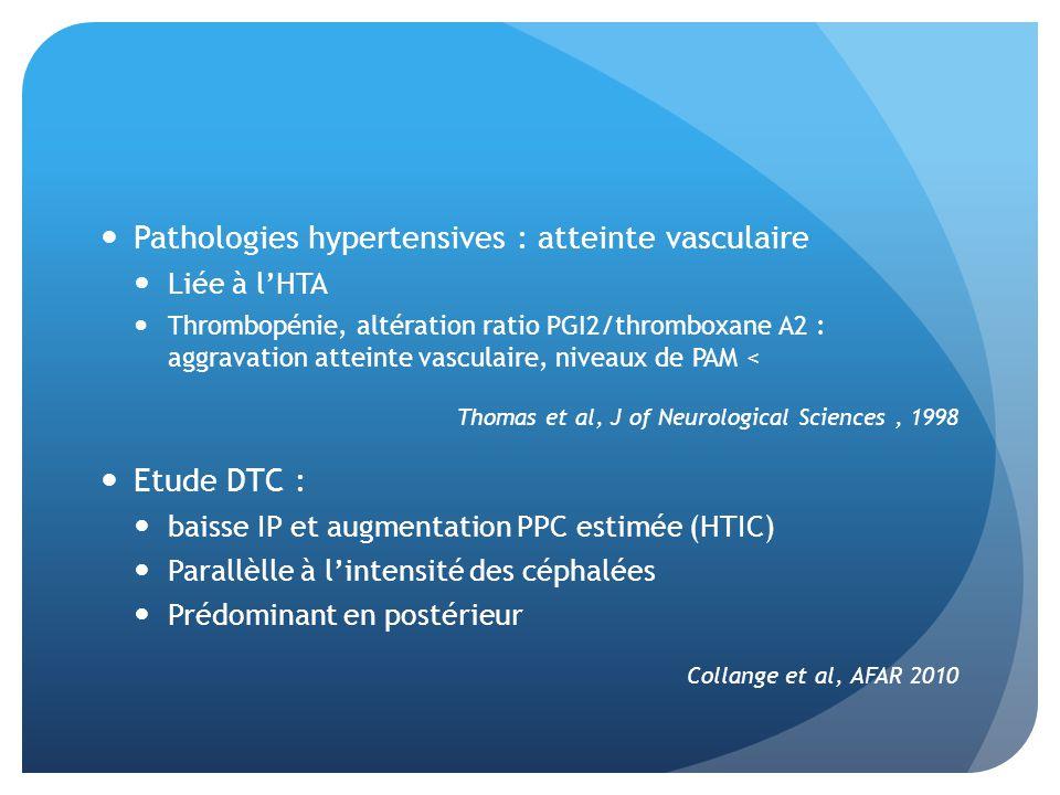 Pathologies hypertensives : atteinte vasculaire