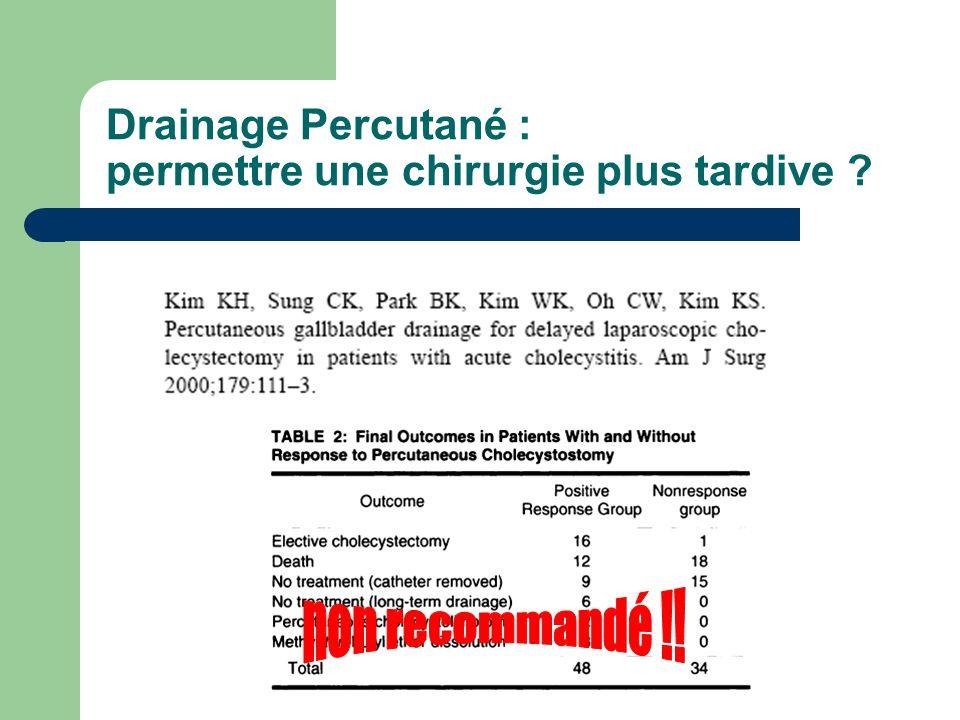 Drainage Percutané : permettre une chirurgie plus tardive