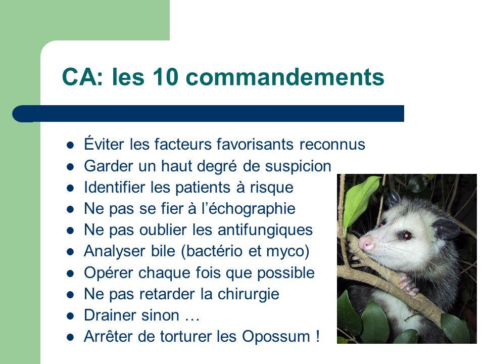 CA: les 10 commandements Éviter les facteurs favorisants reconnus