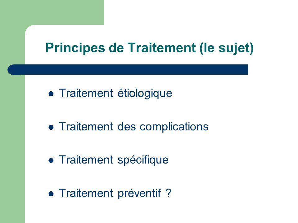 Principes de Traitement (le sujet)