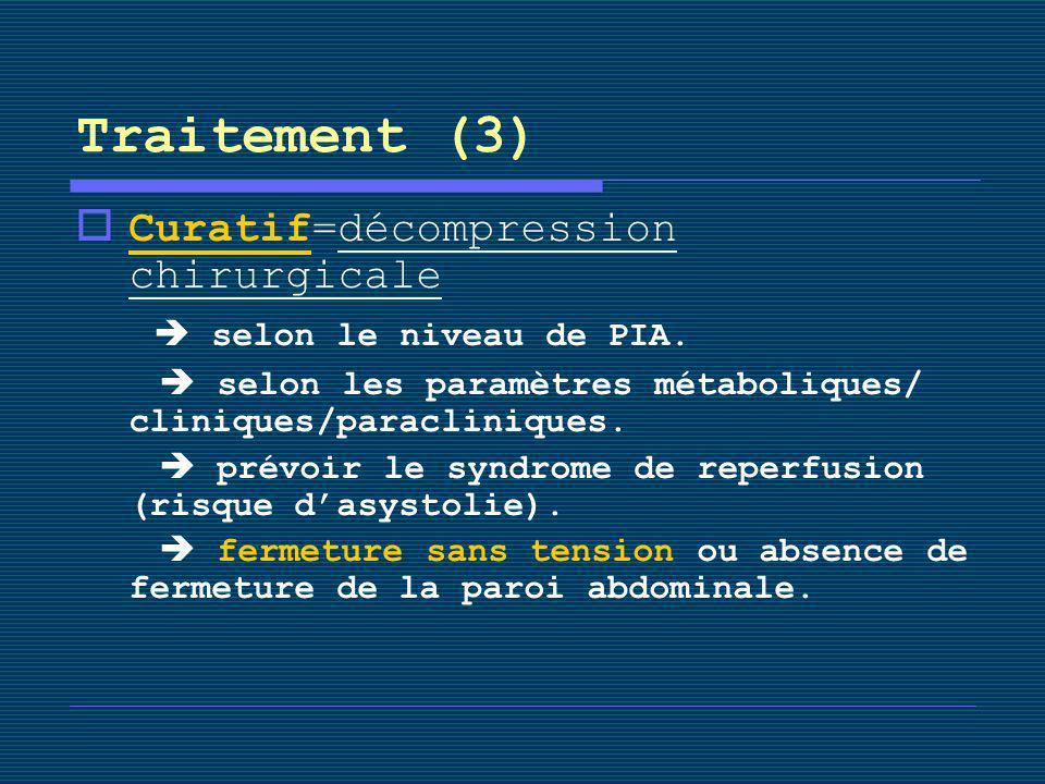 Traitement (3) Curatif=décompression chirurgicale