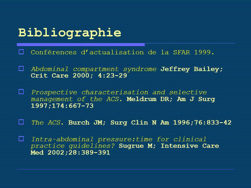 Bibliographie Conférences d'actualisation de la SFAR 1999.