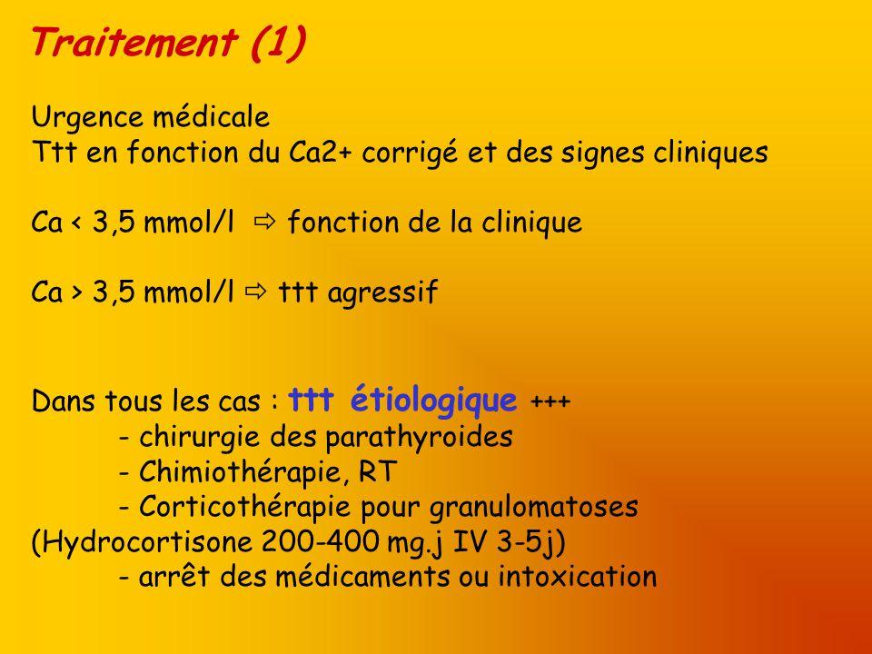 Traitement (1) Urgence médicale