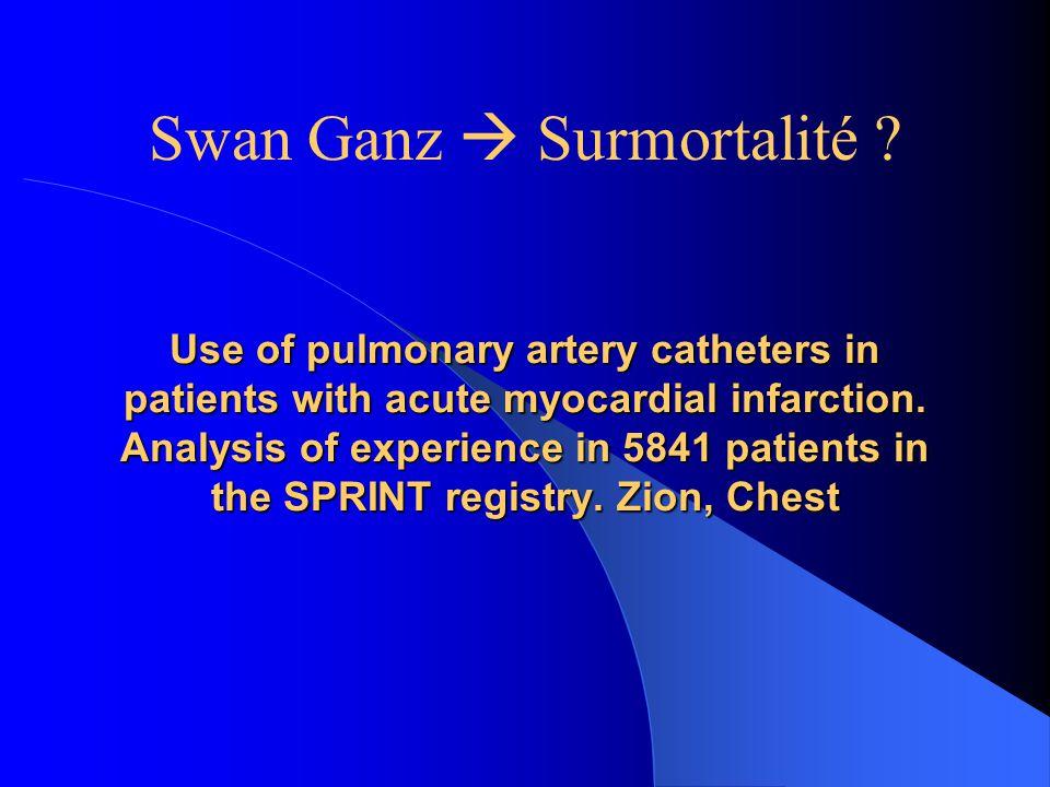 Swan Ganz  Surmortalité