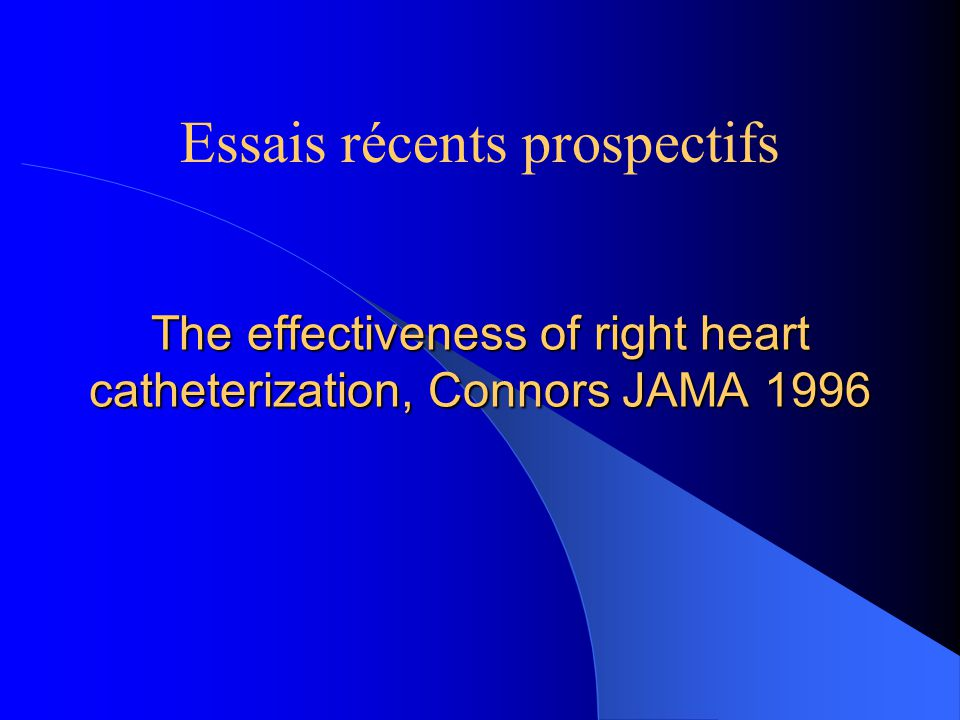 The effectiveness of right heart catheterization, Connors JAMA 1996
