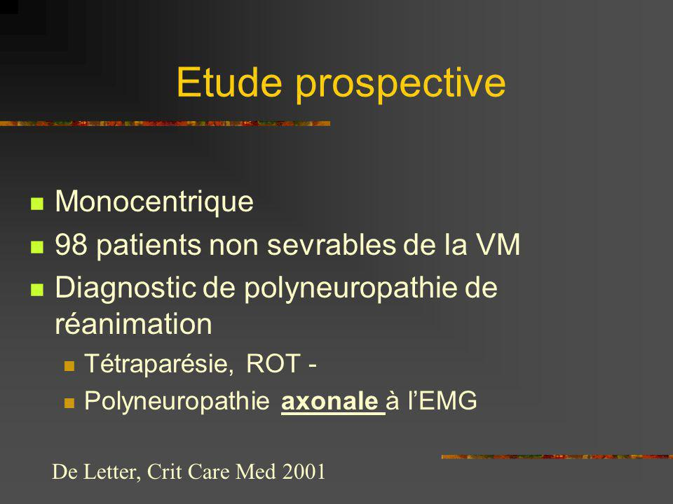 Etude prospective Monocentrique 98 patients non sevrables de la VM