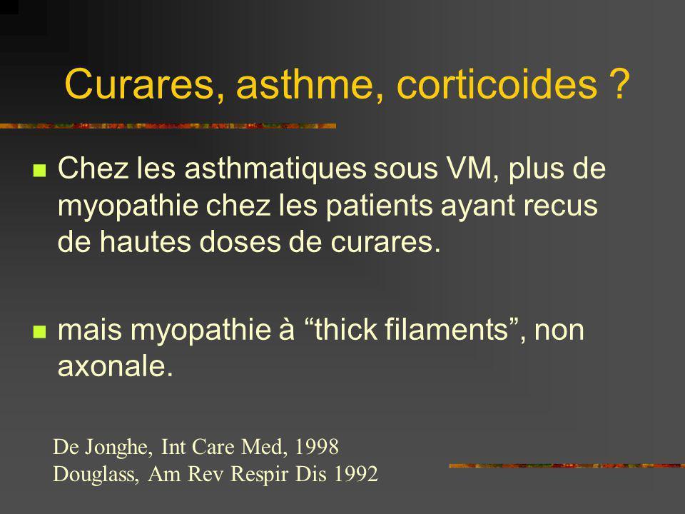 Curares, asthme, corticoides