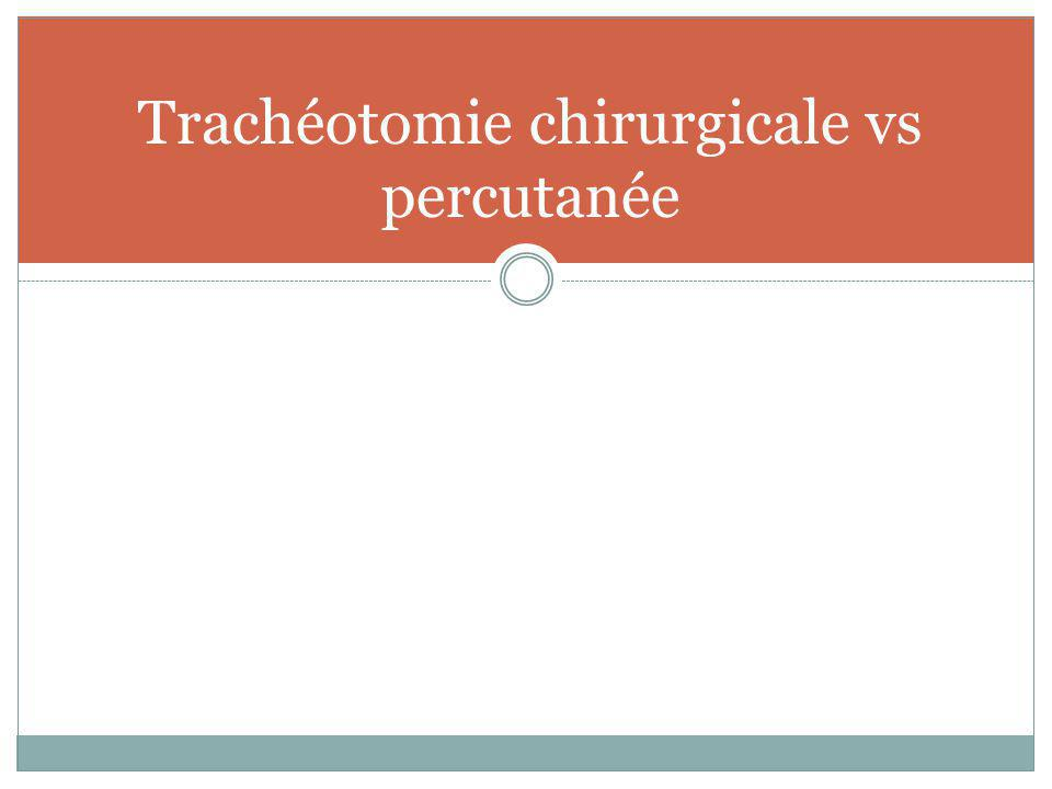 Trachéotomie chirurgicale vs percutanée