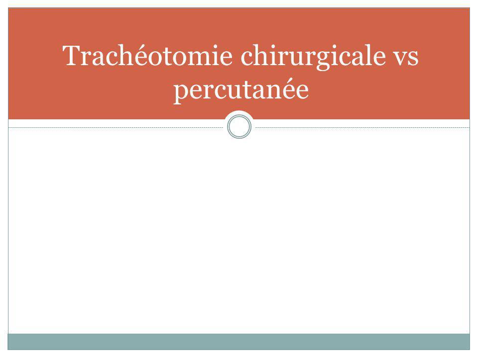 Trachéotomie chirurgicale vs percutanée