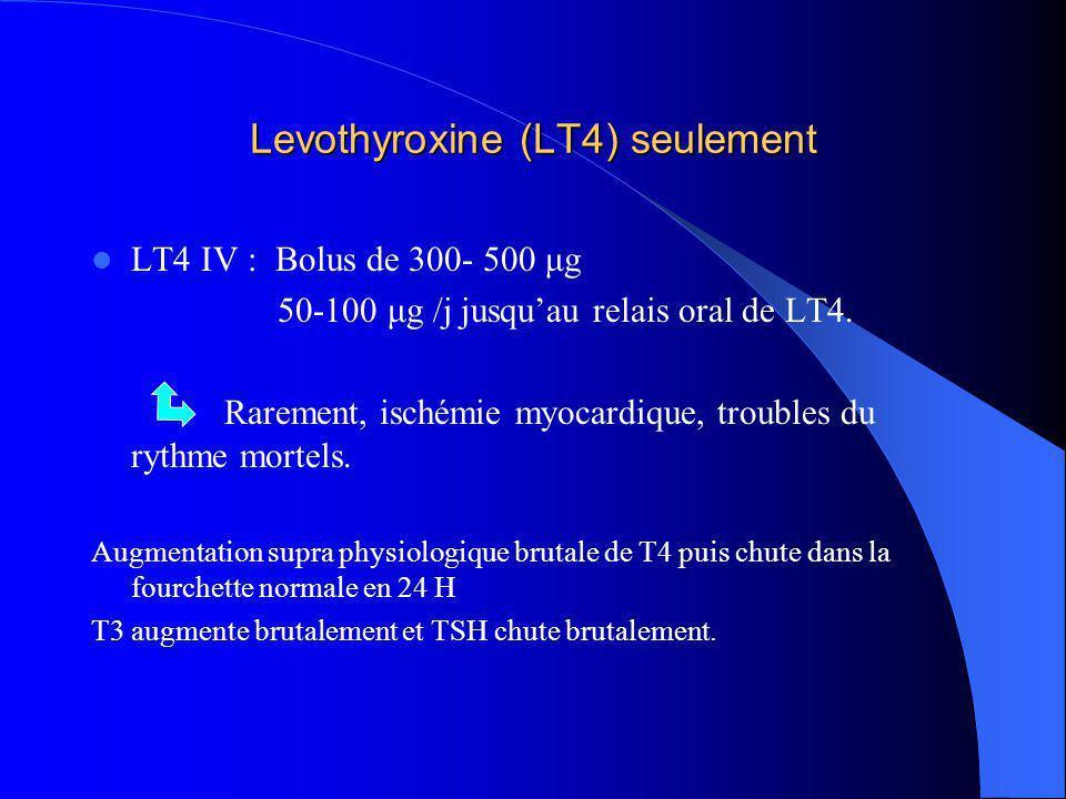 Levothyroxine (LT4) seulement