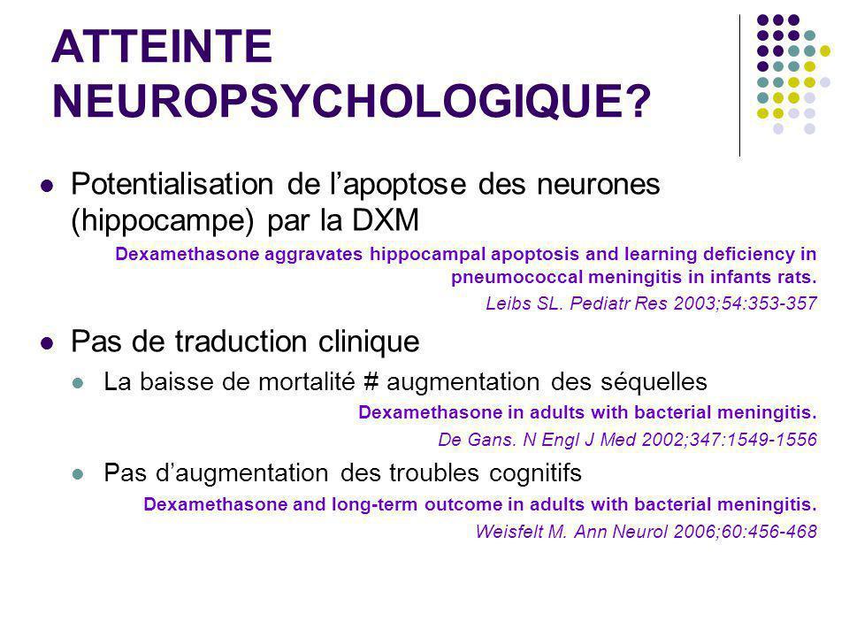 ATTEINTE NEUROPSYCHOLOGIQUE