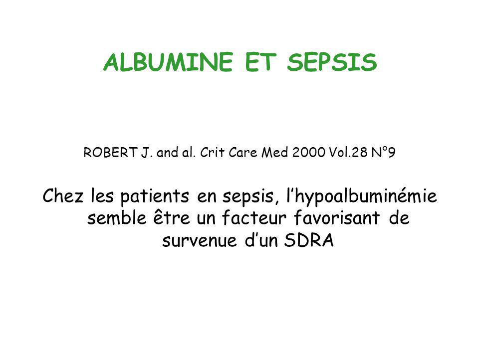 ROBERT J. and al. Crit Care Med 2000 Vol.28 N°9