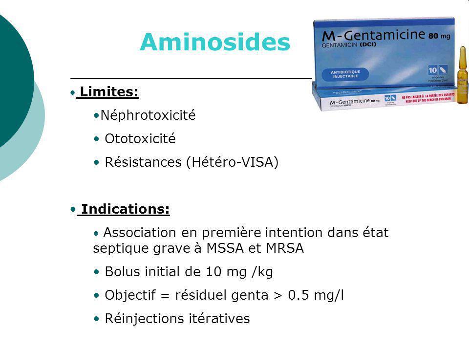 Aminosides Néphrotoxicité Ototoxicité Résistances (Hétéro-VISA)