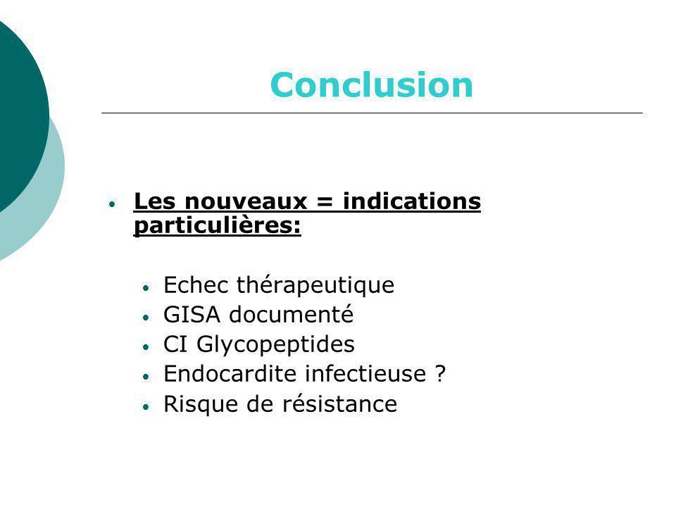 Conclusion Les nouveaux = indications particulières: