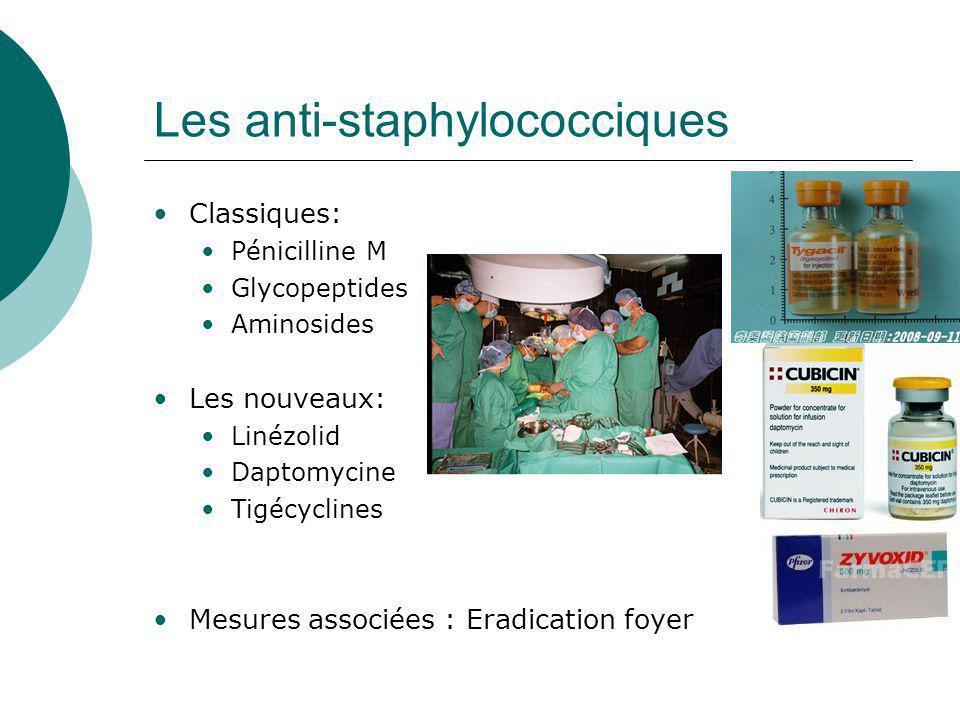 Les anti-staphylococciques