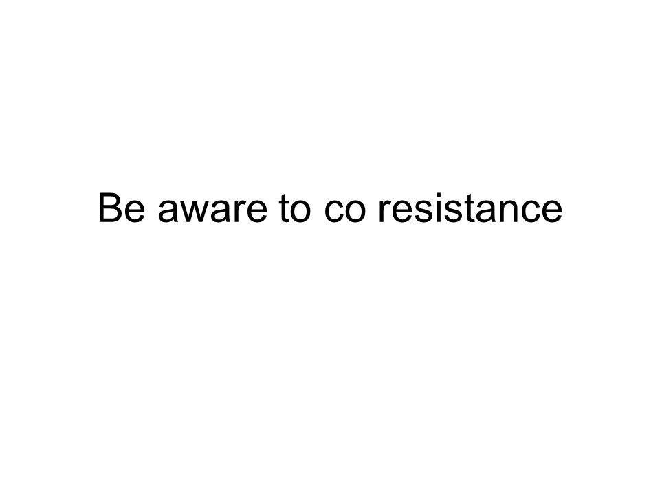 Be aware to co resistance