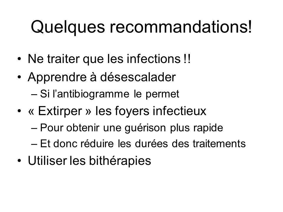 Quelques recommandations!