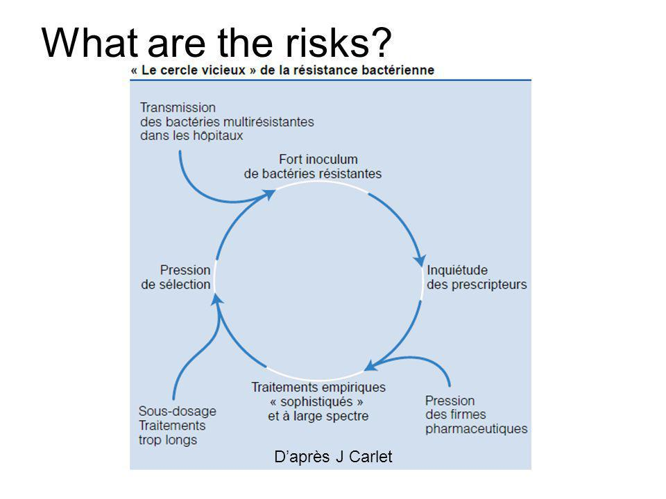 What are the risks D'après J Carlet