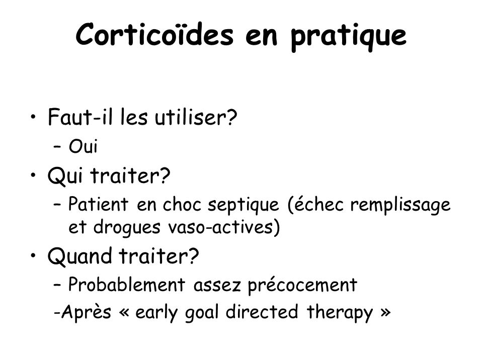 Corticoïdes en pratique