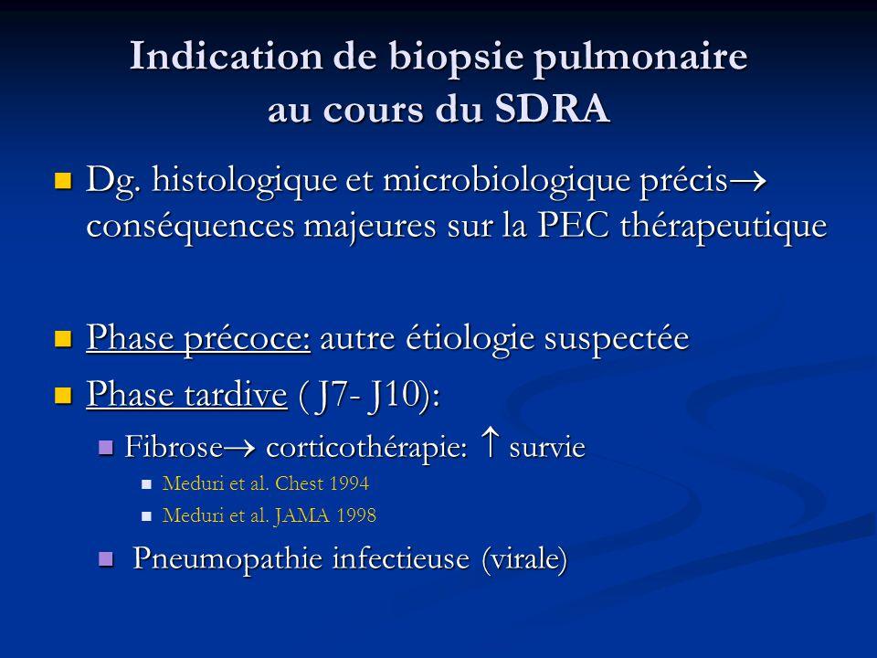 Indication de biopsie pulmonaire au cours du SDRA
