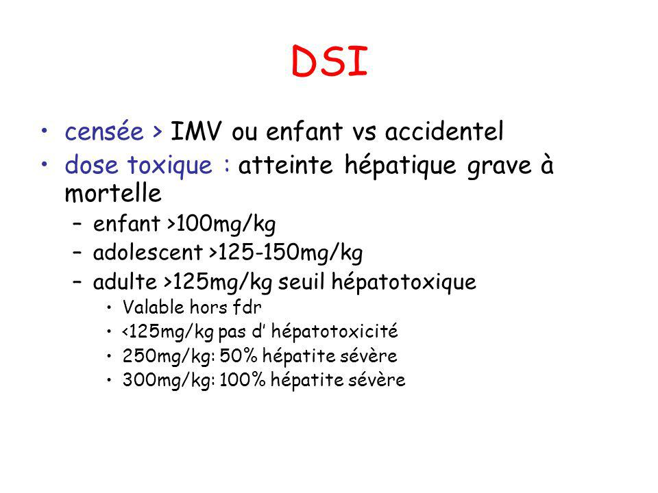 DSI censée > IMV ou enfant vs accidentel