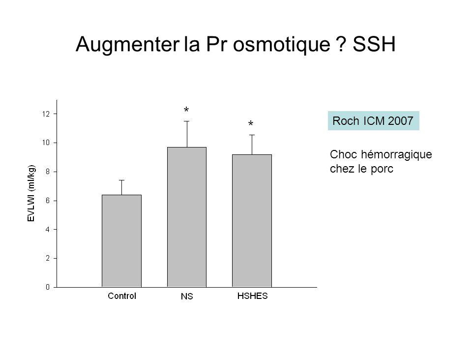 Augmenter la Pr osmotique SSH