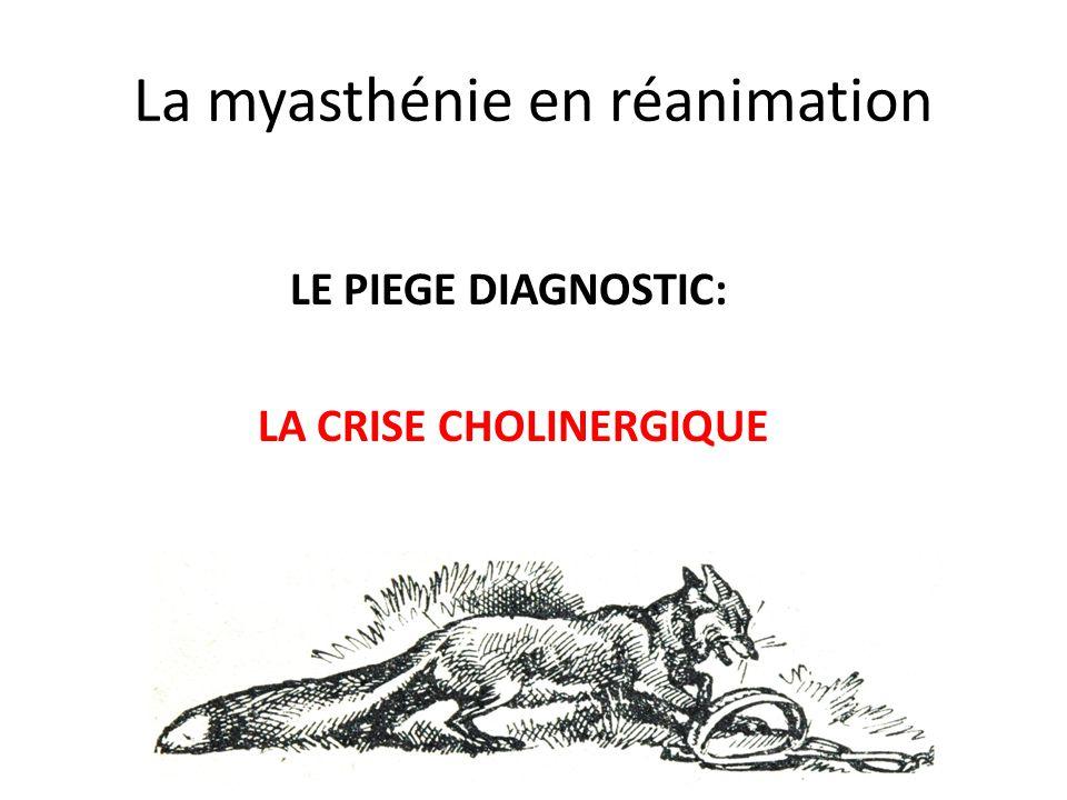 La myasthénie en réanimation
