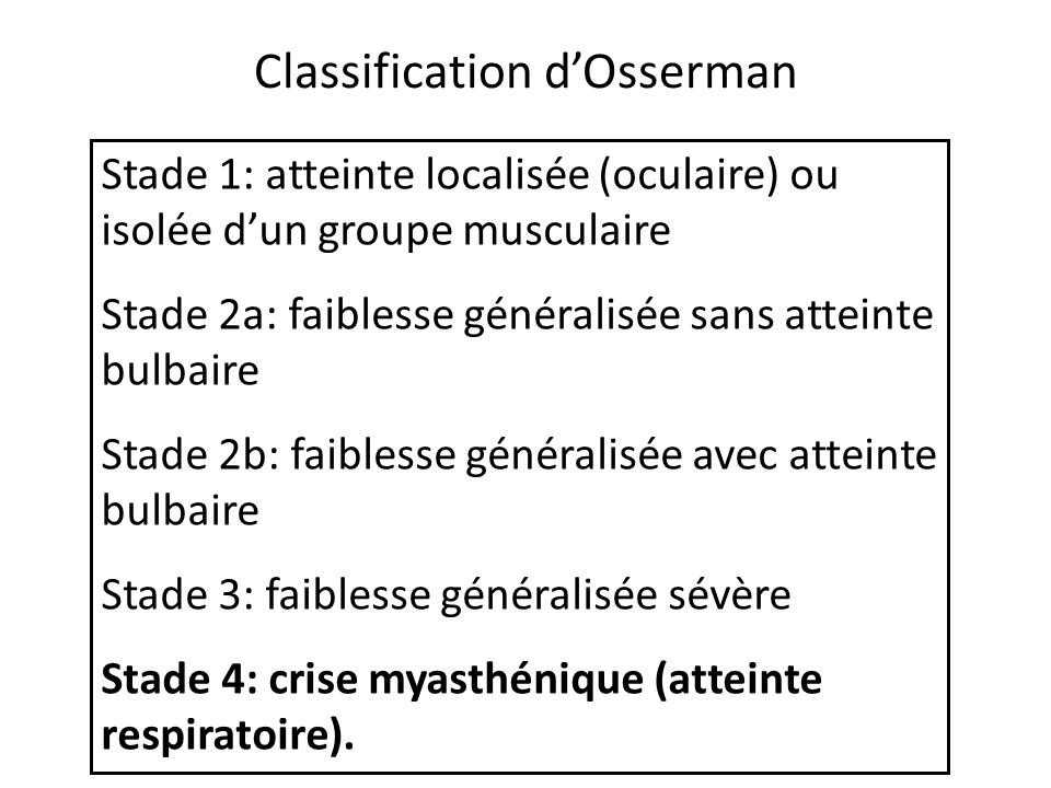 Classification d'Osserman