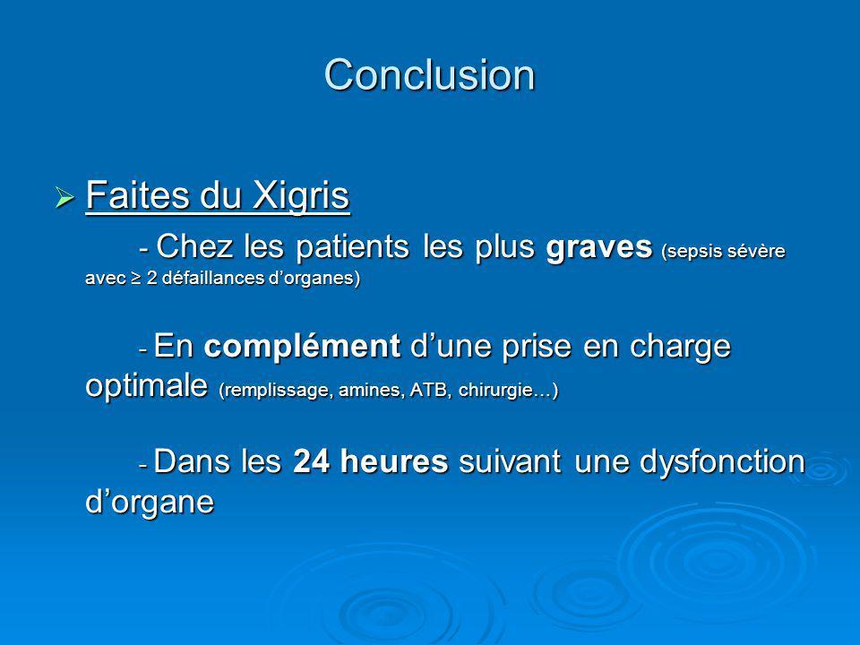 Conclusion Faites du Xigris