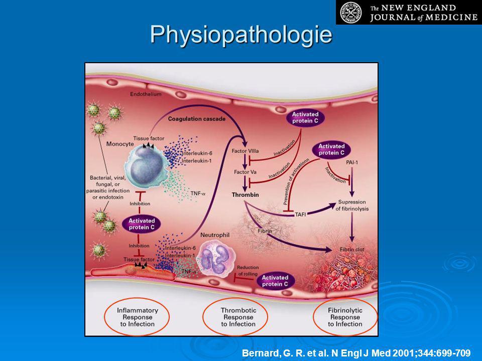 Physiopathologie Bernard, G. R. et al. N Engl J Med 2001;344:699-709