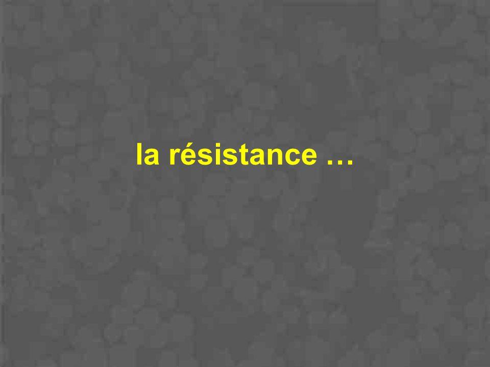 la résistance …