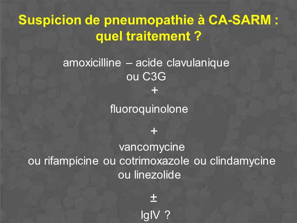 Suspicion de pneumopathie à CA-SARM : quel traitement