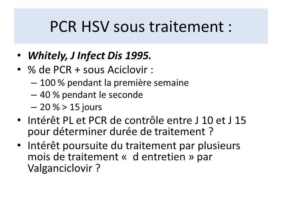 PCR HSV sous traitement :