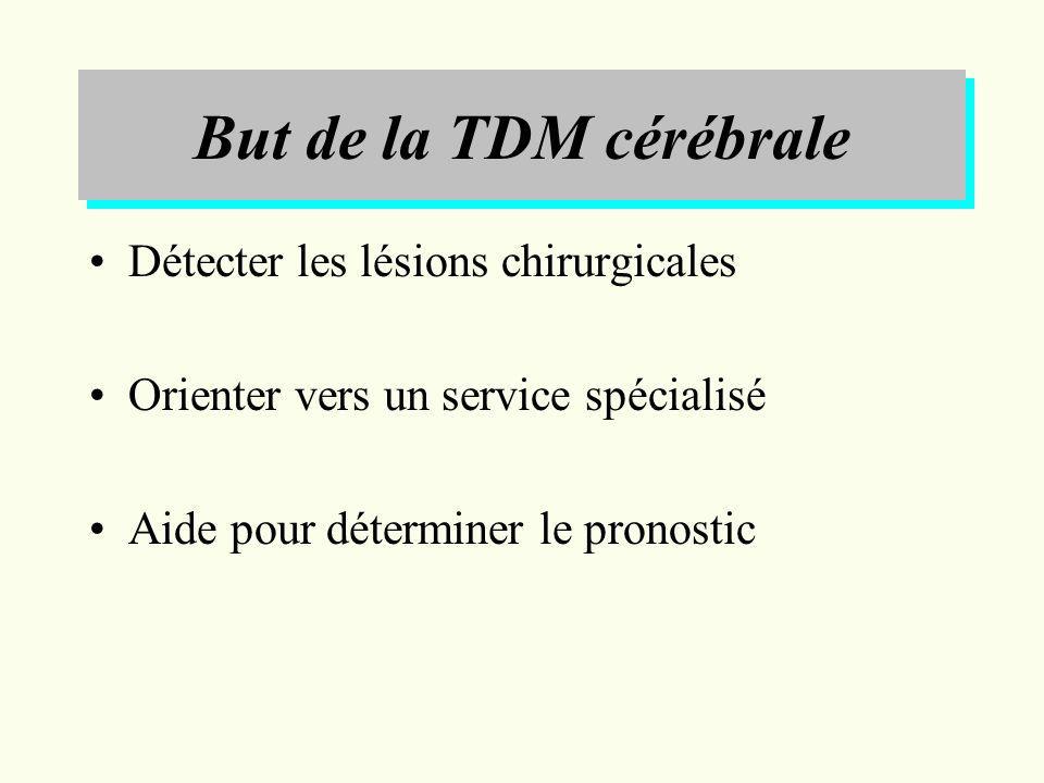 But de la TDM cérébrale Détecter les lésions chirurgicales