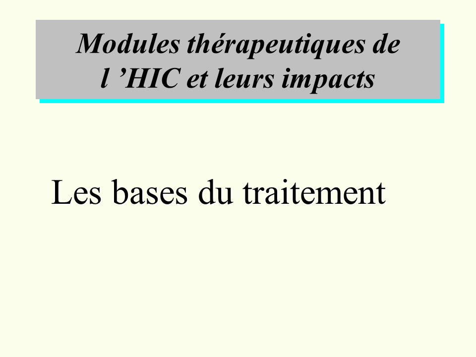 Modules thérapeutiques de l 'HIC et leurs impacts