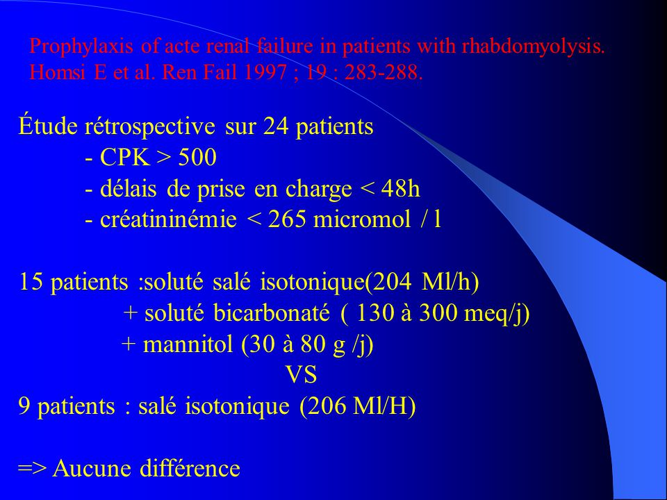 Étude rétrospective sur 24 patients - CPK > 500