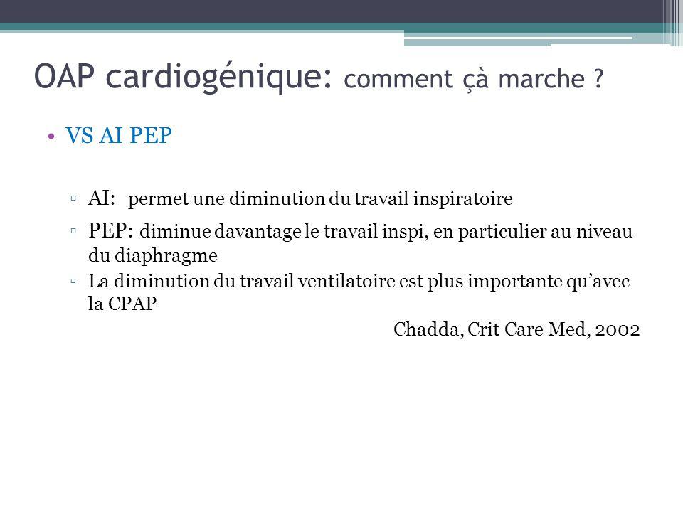 OAP cardiogénique: comment çà marche