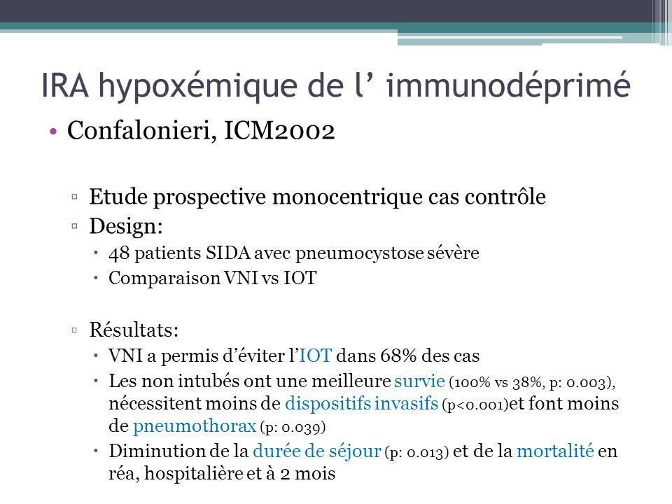 IRA hypoxémique de l' immunodéprimé
