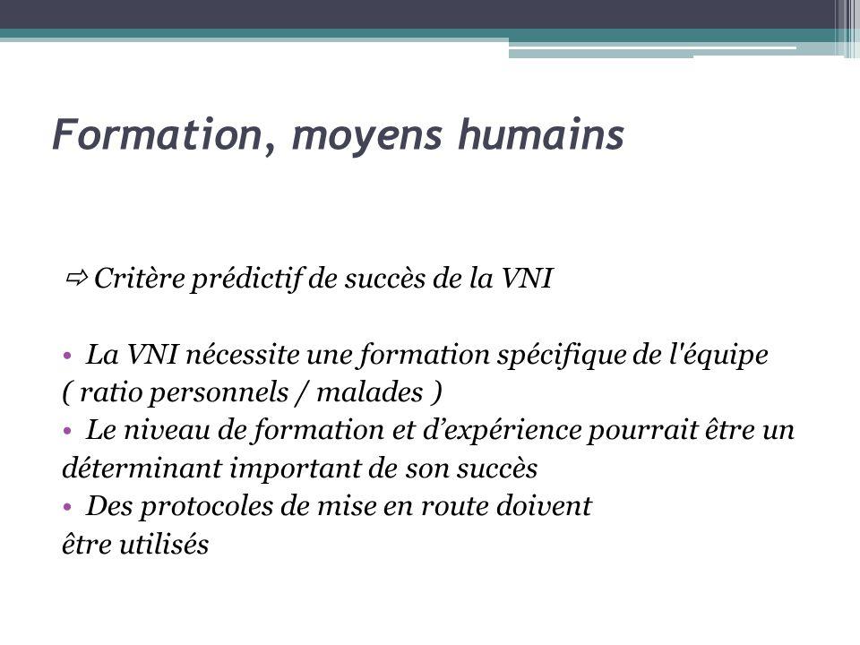 Formation, moyens humains