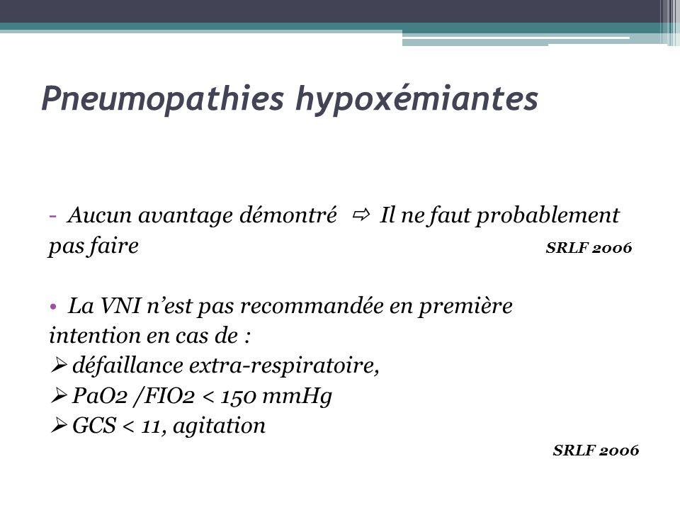 Pneumopathies hypoxémiantes