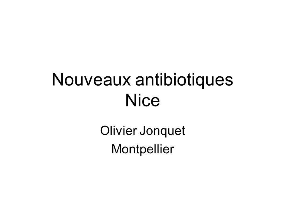 Nouveaux antibiotiques Nice
