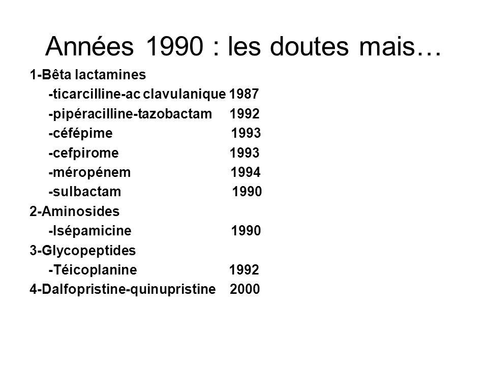 Années 1990 : les doutes mais…