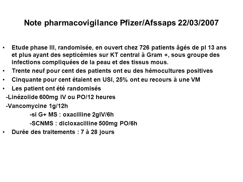 Note pharmacovigilance Pfizer/Afssaps 22/03/2007