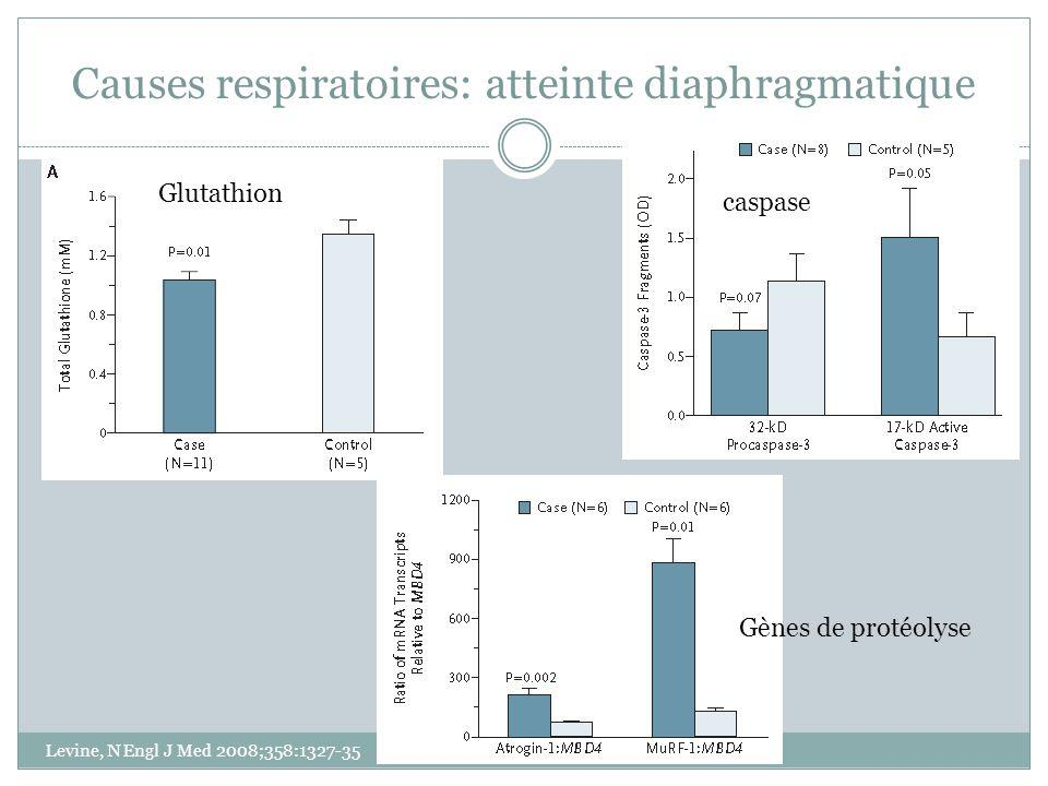 Causes respiratoires: atteinte diaphragmatique