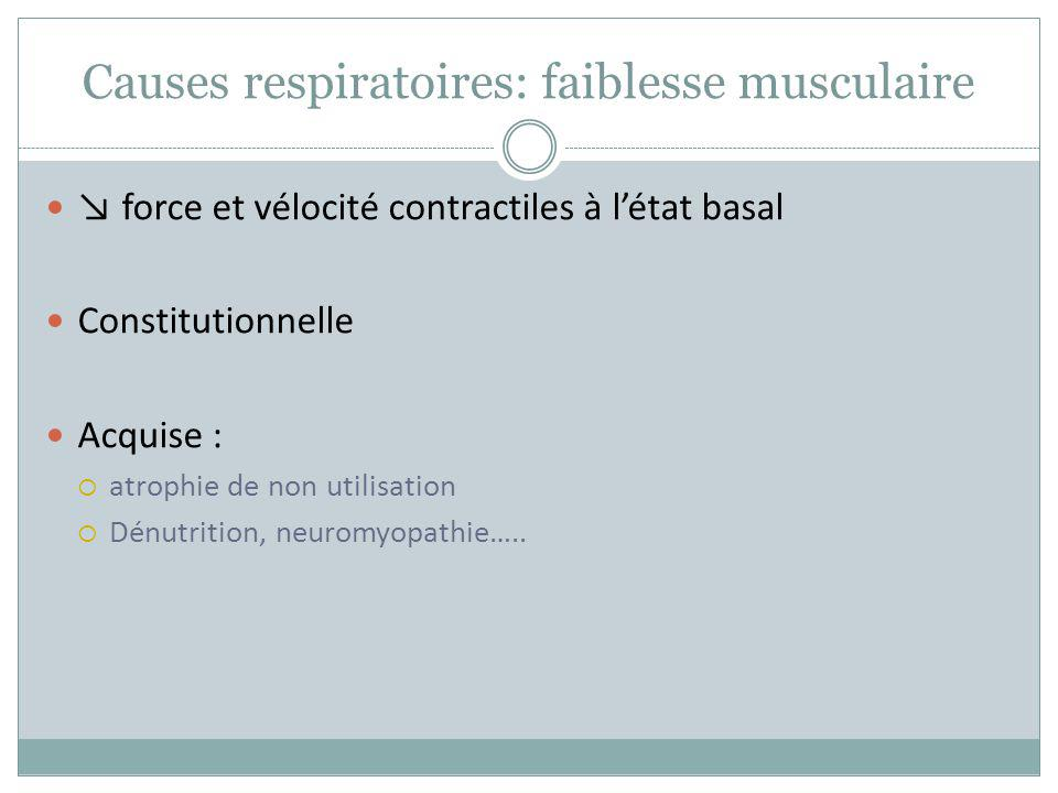 Causes respiratoires: faiblesse musculaire