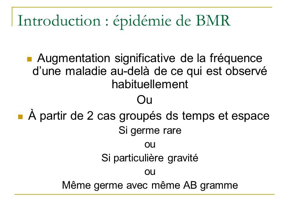 Introduction : épidémie de BMR