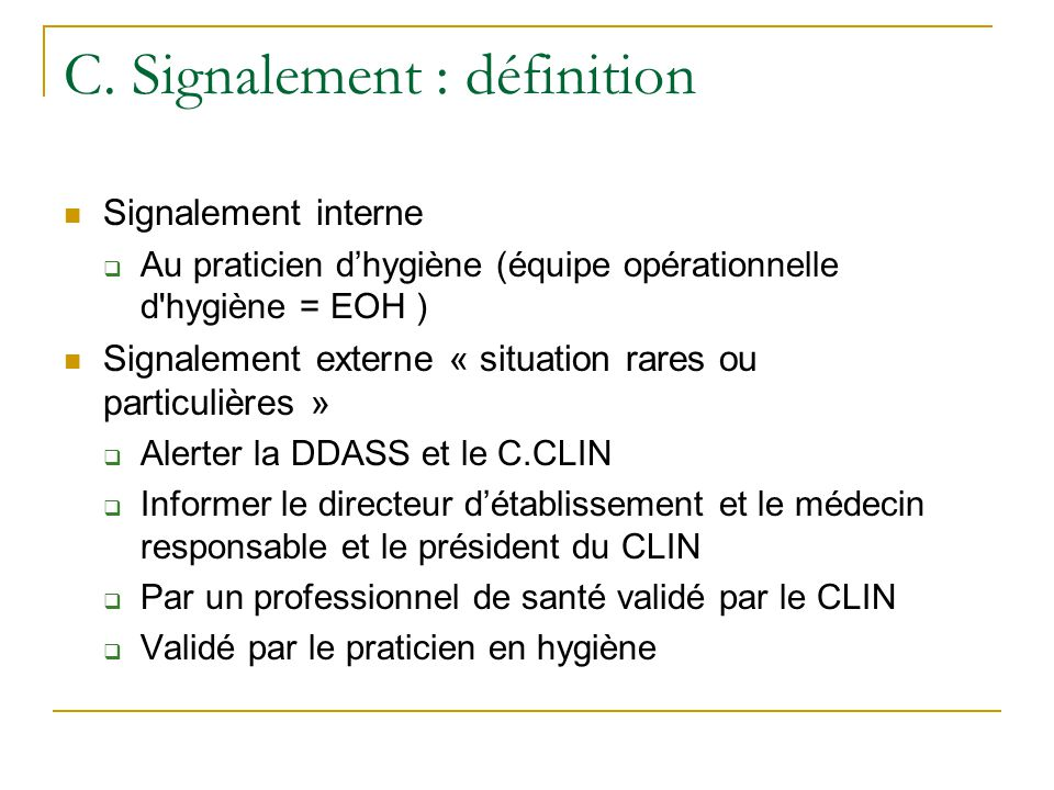 C. Signalement : définition
