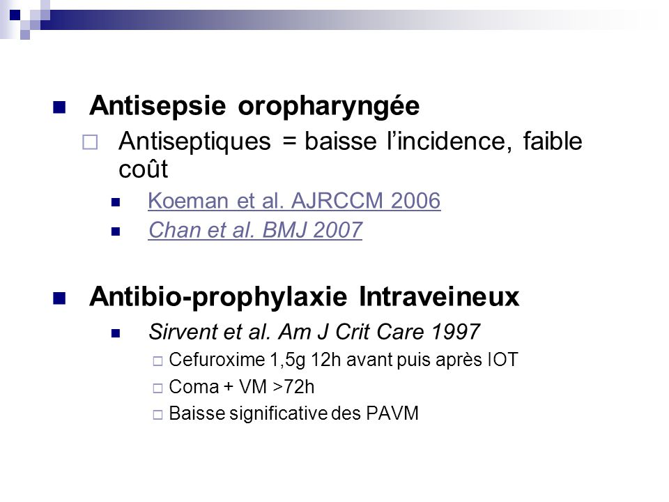Antisepsie oropharyngée